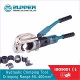 ひだを付けるための油圧圧着工具範囲50-400mm2 (KYQ-400)に