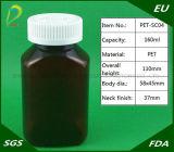 Plastikmedizin-Flasche des Haustier-160ml mit Plastikschutzkappe