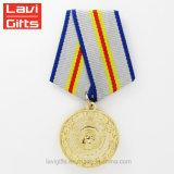 Großhandelsgeschenk-kundenspezifischer Staat-Replik-deutscher Soldat-militärisches frommes Armee-Preis-Medaillon-Farbband für Medaillen-Verkauf