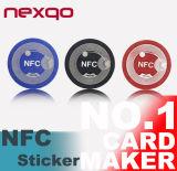 La carta patinata inferiore NFC di HF 13.56MHz di prezzi RFID etichetta i contrassegni/autoadesivi di RFID