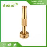 真鍮水スプレーノズル水ガーデン・ホースのノズルの黄銅のノズル