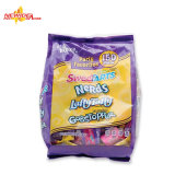 Macchina per l'imballaggio delle merci del latte ghiacciato del cioccolato del cotone del sacchetto gommoso automatico della caramella