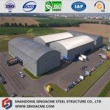 Alto gruppo di lavoro di aumento della struttura d'acciaio con il tetto dell'arco