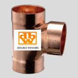 Encaixe de cobre de Dwv com T dobro