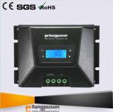 Les contrôleurs solaires en gros 12V 24V 36V 48V de charge de Fangpusun ont évalué le régulateur automatique de charge de la tension 70A 60A 45A MPPT