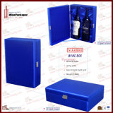 2-Bottle Scuro-blu di qualità superiore Leather Wine Box (5892)