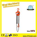 HS-J Typ 0.5ton manuelle Kettenhebevorrichtung