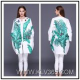 Neuer Entwurf Euroepan Form-Frauen-Sprung-Herbst-langer beiläufiger Mantel