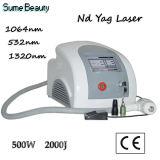 Máquina de la belleza del laser del ND YAG del pigmento y del Q-Interruptor del retiro del tatuaje