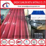 착색된 물결 모양 루핑 장 /PPGI PPGL 지붕 위원회 또는 Prepainted 장을 지붕을 달기