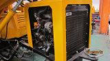 30m3/Hour 세륨 질 판매에 믹서를 가진 트레일러에 의하여 거치되는 Lovol 디젤 엔진 구체 펌프