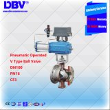 Acier inoxydable Pneumatic&#160 d'api ; V&#160 actionné ; Type bille Valves&#160 ;