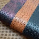 マットのワニパターン袋の靴の装飾のための総合的なPUの革
