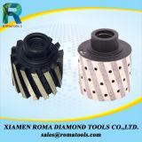 Romatoolsのダイヤモンドの磨く石造りの端のための製粉のツールの許容度ゼロの車輪