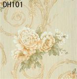 Papier peint profondément gravé en relief de vinyle de modèle de l'Italie de qualité (450g/sqm)