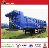 30-60ton de hydraulische Semi Aanhangwagen van de Stortplaats van het Eind van de Steen van het Zand Achter Tippende