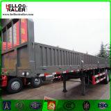 半40FTの三車軸販売のための平面側面の貨物ボックストレーラー