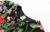 Blume gedruckter Mädchen-Baumwollmantel für Kind-Kleidung