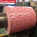 색깔은 강철 코일 PPGI 강철 코일 꽃 패턴 디자인을 입혔다