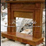 Bordi di pietra di marmo Mfp-362 del camino dell'oro di Qy del granito