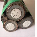 A tensão média XLPE isolou o cabo aéreo de Shieled da fita de alumínio de Mylar