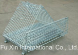 Wheelsの倉庫Storage Steel Wire Mesh Roll Container