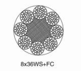 직류 전기를 통한 철강선 호이스트 밧줄 8*36ws+FC