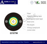 GYXTW Outdoor Optical Fiber Cable, Central Tube, Steel Armoured, Duct ou Direct Buried ou Aerial Use