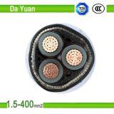 Type souterrain câble d'alimentation de cuivre blindé de fil d'acier de câble