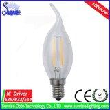 100lm/W 2W E14 C35 LED 필라멘트 전구