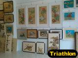 図か景色または花または静物画または動物4の鉄の絵画