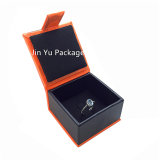 Caisse d'emballage en cuir de papier faite sur commande du bijou Jy-Jb85 pour la boucle d'oreille /Ring
