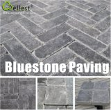 Granito/basalto/ardósia/Sandstone/pátio pretos naturais de Porphyr que pavimenta a pedra do godo