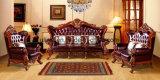 Sofà di cuoio moderno del salone di legno classico (UL-NSC088)