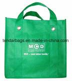 Sac d'emballage non tissé de polypropylène avec le traitement intense d'oeillet en métal
