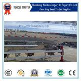 60cbm 3 do eixo 72t da cabine do volume do cimento do transporte do silo reboque dobro de alumínio Semi