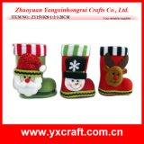 عيد ميلاد المسيح زخرفة ([ز14149-1-2-3-4]) عيد ميلاد المسيح جزمة حذاء تعليب جزمة