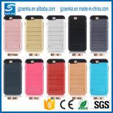 Cubierta de oro accesoria móvil del teléfono del rectángulo con el soporte para el iPhone 7/7 más