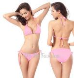 Großhandelsprodukt-Rosa-süsse reizvolle Badeanzug-Dame Bikini
