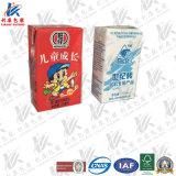 ジュースおよびミルクのための無菌包装材料