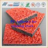 Pegamento de Polyureathane de la buena calidad para el suelo corriente de goma de la pista/del cauce