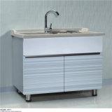 Einfacher Entwurfs-Fußboden-Edelstahl-Bad-Eitelkeit