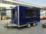 製造業者の高品質の2車軸壁の側面の食糧トレーラー