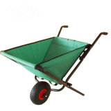 Wheelbarrow de pouco peso de dobramento do trole do carrinho de mão de roda do jardim BRITÂNICO