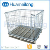 Gancho Conectado Warehouse Stacking Wire Cage Pallet