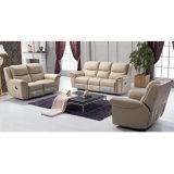 Sofá reclinável de couro mais vendido Sofá reclinável de massagem de couro 6037