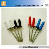 Тип алюминиевая стальная односторонняя клепка цвета DIN 7337 открытый