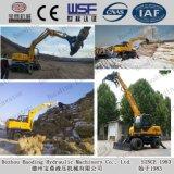Petit encavateur de bois de construction d'excavatrices de roue de la Chine pour la canne à sucre/bois contagieux