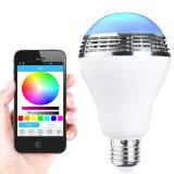 Mini funzionamento di Bluetooth 3.0 APP dell'altoparlante della lampadina