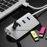 USB 2.0/3.0のハブ4ポート
